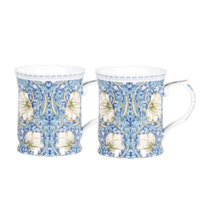 Elegant Kitchen Tea Coffee William Morris Mugs Cups Set of 2
