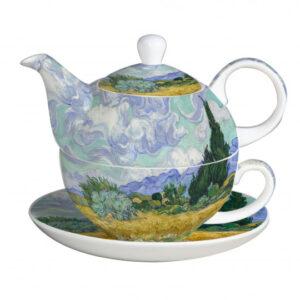 Elegant Kitchen Teapot Van Gogh Wheatfield Tea for One with Gift Box