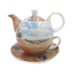 Elegant Kitchen Teapot Claude Monet Poppies Tea for One Giftboxed