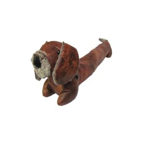 Country Leather Look Weighted Cooper Dachshund Door Stopper