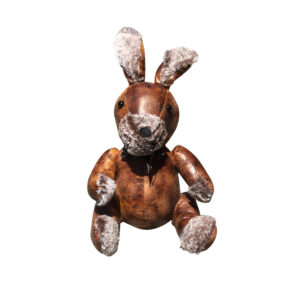 Country Leather Look Weighted Richard the Rabbit Door Stopper