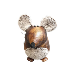 Country Leather Look Weighted Manny the Mouse Door Stopper