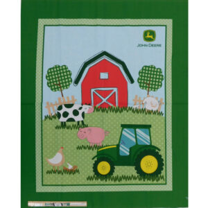 Patchwork Quilting Sewing John Deere Tractor Farm Panel 92x110cm
