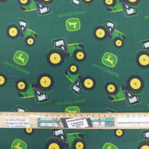Quilting Patchwork Fabric John Deere Tractors Green Allover 50x55cm FQ