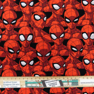Quilting Patchwork Fabric Spiderman Red Allover 50x55cm FQ