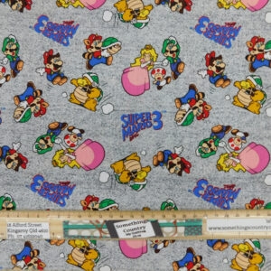 Quilting Patchwork Fabric Super Mario and Friends 50x55cm FQ