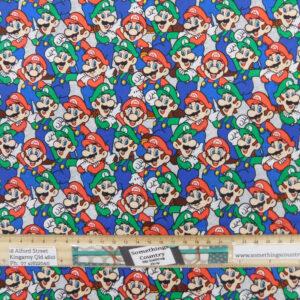Quilting Patchwork Fabric Super Mario and Luigi 50x55cm FQ
