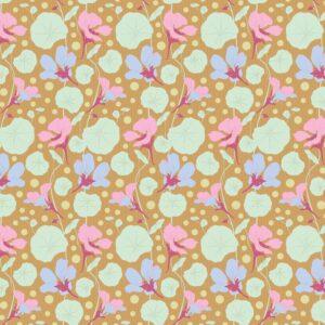 Quilting Patchwork Fabric TILDA Gardenlife Nasturtium Mustard 50x55cm FQ