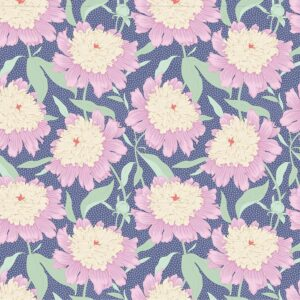 Quilting Patchwork Fabric TILDA Gardenlife Peony Blue 50x55cm FQ