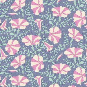 Quilting Patchwork Fabric TILDA Gardenlife Petunia Blue 50x55cm FQ