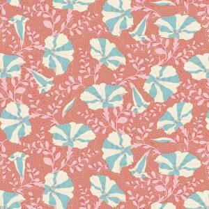 Quilting Patchwork Fabric TILDA Gardenlife Petunia Coral 50x55cm FQ