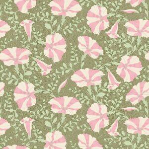 Quilting Patchwork Fabric TILDA Gardenlife Petunia Grey 50x55cm FQ