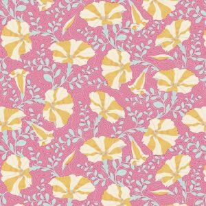 Quilting Patchwork Fabric TILDA Gardenlife Petunia Pink 50x55cm FQ