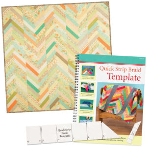 Quilting Patchwork Sewing Template Quick Strip Braid Ruler and Booklet
