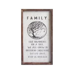 Country Farmhouse Sign Family Story Framed Wall Art
