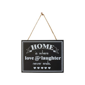 Country Small Black Hanging Home Love Laughter Sign