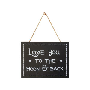 Country Small Black Hanging Love You to the Moon Sign