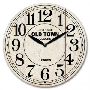 Clock Wall Hanging French Country Old Town Clocks 29cm