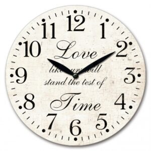 Clock Wall French Country Love Stands Test of Time Clocks 29cm