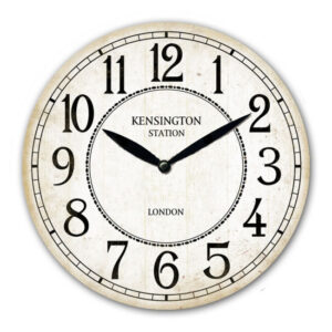 Clock Wall French Country Kensington Station White Clocks 29cm