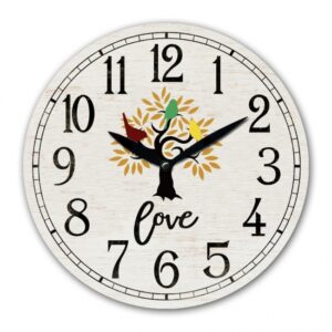 Clock Wall French Country Love Tree White Clocks 29cm