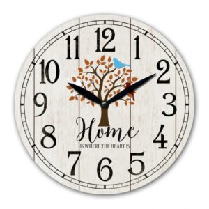 Clock Wall French Country Home Tree White Clocks 29cm