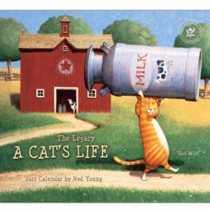 Legacy 2022 Calendar A Cat's Life Calender Fits Wall Frame