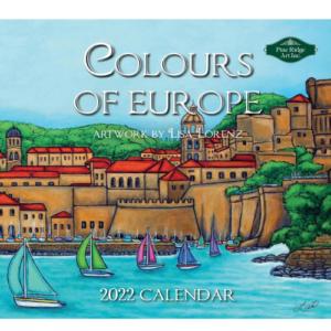 Pine Ridge 2022 Calendar Colours of Europe Calender Fits Wall Frame