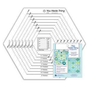 Quilting Patchwork Sewing Template You Hexie Thing Hexagon Ruler