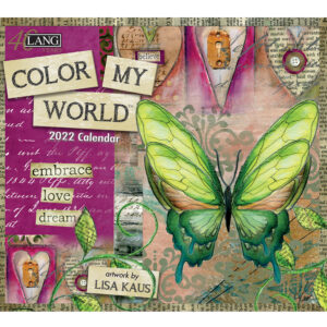 Lang 2022 Color My World Calender Fits Wall Frame