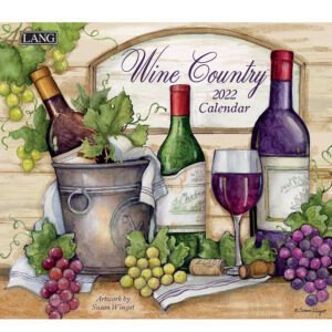 Lang 2022 Calendar Wine Country Calender Fits Wall Frame