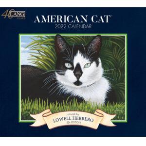 Lang 2022 Calendar American Cat Calender Fits Wall Frame