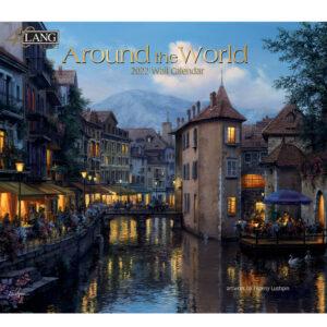 Lang 2022 Calendar Around the World Calender Fits Wall Frame
