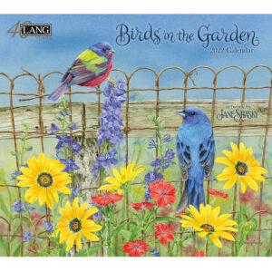 Lang 2022 Calendar Birds in the Garden Calender Fits Wall Frame