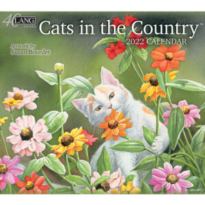 Lang 2022 Calendar Cats in the Country Calender Fits Wall Frame