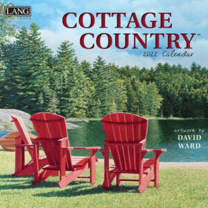 Lang 2022 Cottage Country Calender Fits Wall Frame