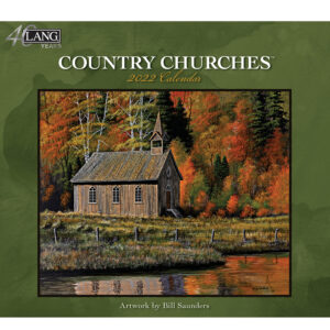 Lang 2022 Country Churches Calender Fits Wall Frame