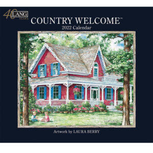 Lang 2022 Country Sampler Welcome Fits Wall Frame