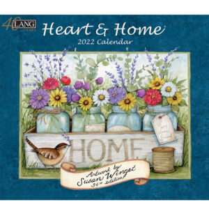 Lang 2022 Calendar Heart and Home Calender Fits Wall Frame