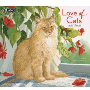 Lang 2022 Calendar Love of Cats Calender Fits Wall Frame
