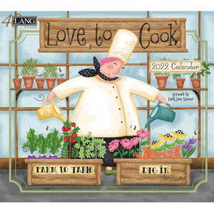 Lang 2022 Calendar Love to Cook Calender Fits Wall Frame