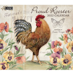 Lang 2022 Calendar Proud Rooster Calender Fits Wall Frame