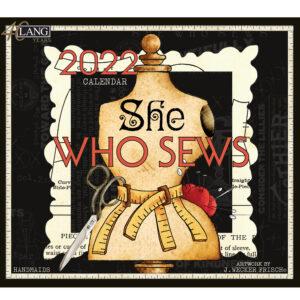 Lang 2022 Calendar She Who Sews Calender Fits Wall Frame