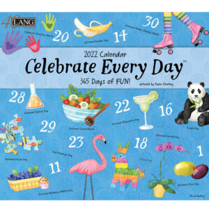Lang 2022 Calendar Celebrate Every Day Calender Fits Wall Frame
