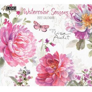 Lang 2022 Calendar Watercolor Seasons Calender Fits Wall Frame