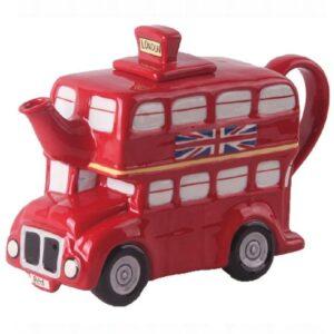 Collectable Novelty Kitchen Teapot London Bus China Tea Pot