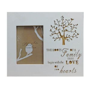 French Country Photo Frame Wooden Roots of a Family Tree 28x33cm