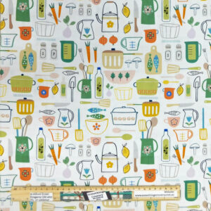 Quilting Patchwork Fabric Kitchen Cooking Allover 50x55cm FQ