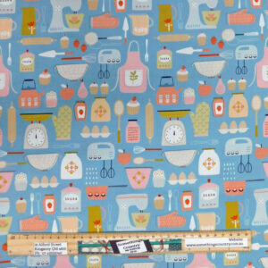 Quilting Patchwork Fabric Cooking Baking Allover 50x55cm FQ