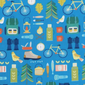 Quilting Patchwork Fabric Great Outdoors Allover 50x55cm FQ